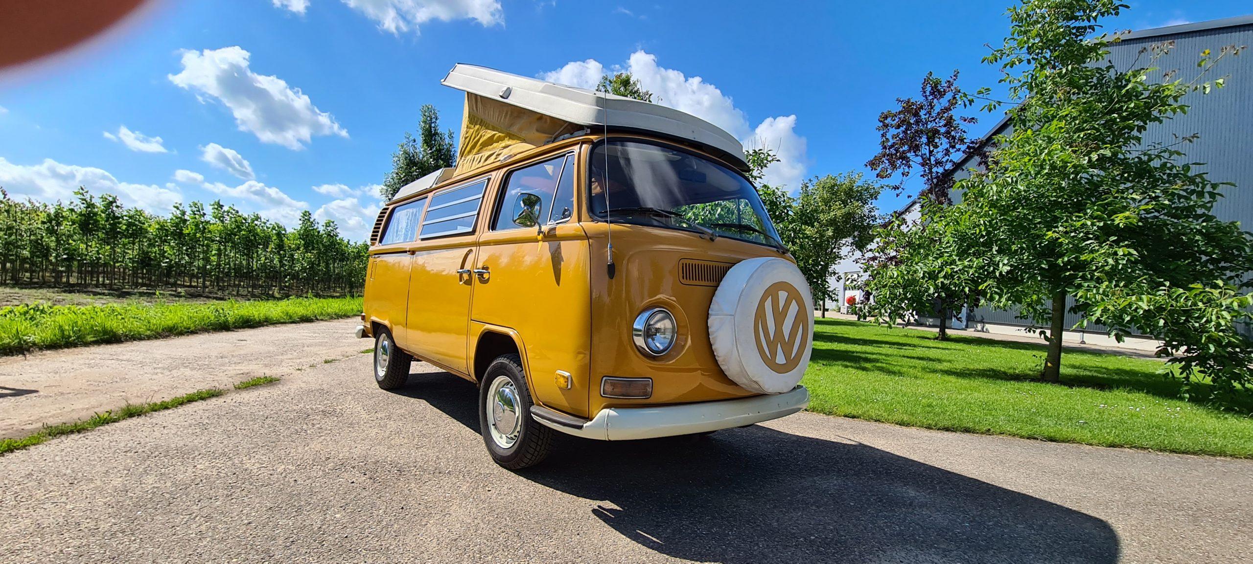 Orange Volkswagen Westfalia